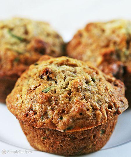 Zucchini Muffins ~ veggies at breakfast